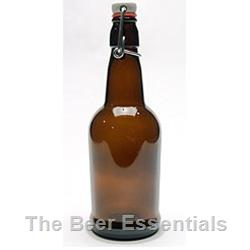 Flip top bottle in amber 16 oz. case of 12