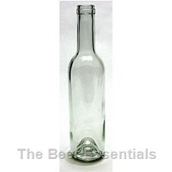 Wine bottle in claret clear 375 ml. case of 12