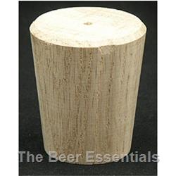 Wood barrel bung solid (1 7/16 x 2)