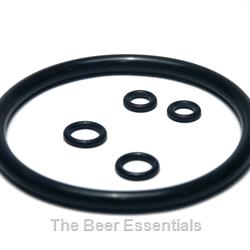 O-ring set 1 lid, 2 disconnect bodies, 2 tubes for Cornelius ball lock kegs