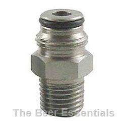 Connector body adaptor liquid ball lock